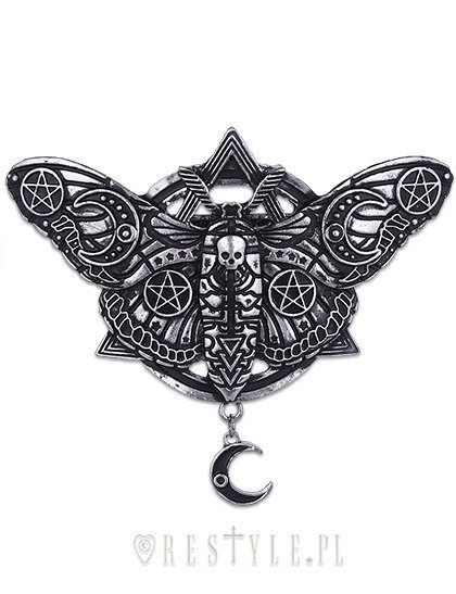 "Gothic hairclip moon moth, occult jewellery, barrette ""OCCULT MOTH HAIRCLIP"""
