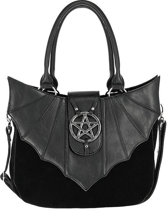 OMINOUS BAG bat purse with pentagram