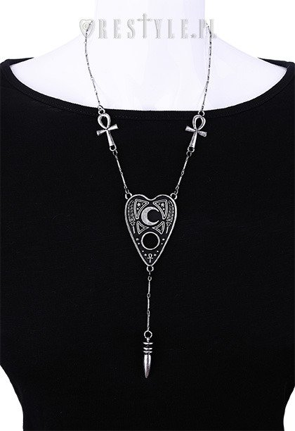 """OUIJA NECKLACE"" spirit board cursor, ankh cross, karnak pendulum"