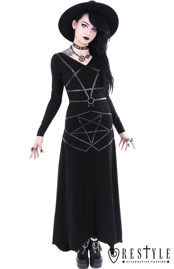 "Witchy shirt with pentagram harness ""PENTAGRAM BLOUSE"""