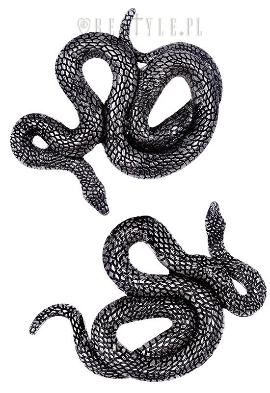 "Pair of serpentine clips, occult jewellery ""SNAKES HAIRCLIPS"""
