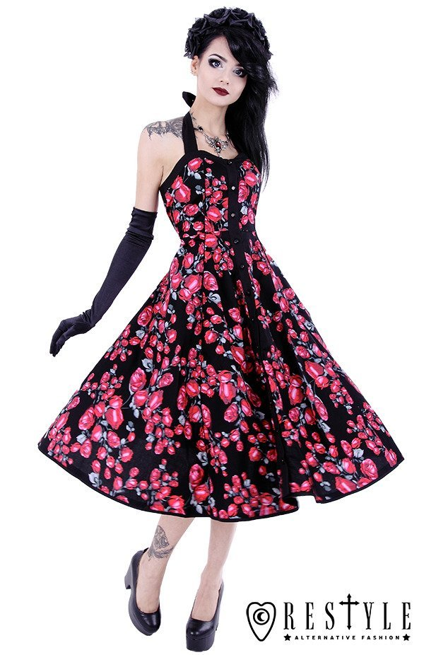 Pin up dress, 50' style, retro skirt, evening circle dress ...