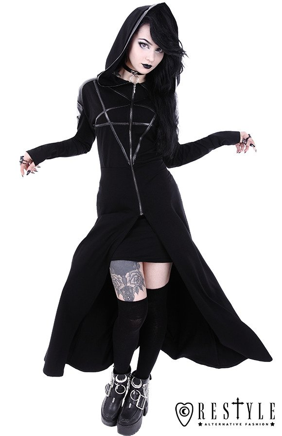 "Long Pentagram jacket, oversized hood ""RANGER HOODIE"""
