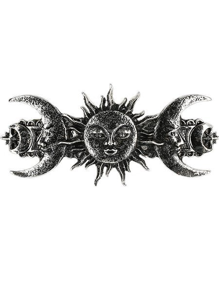 SUN AND MOON HAIRCLIP SILVER