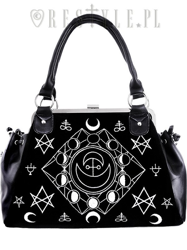 "Black Velvet, gothic, occult handbag ""SYMBOLIC FRAME BAG"""