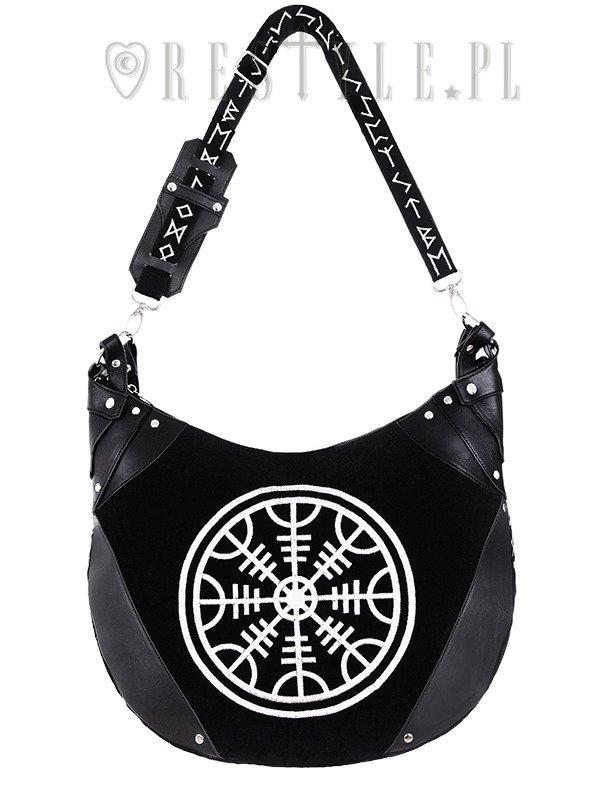 Sack Bag Runes Hobo Black Velvet