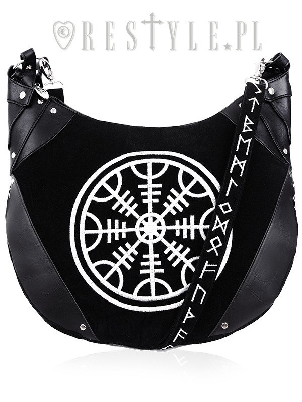 "Sack Black velvet Bag ""RUNES HOBO BAG"""