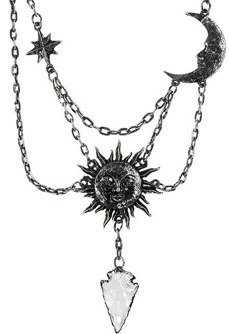 MOON & SUN SILVER NECKLACE