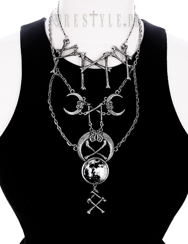 "Silver pagan pendant, viking necklace ""RUNIC SIGNS necklace"""