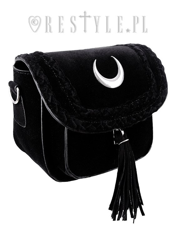 "Small gothic, 90s crescent handbag""VELVET MOON MINI BAG"""