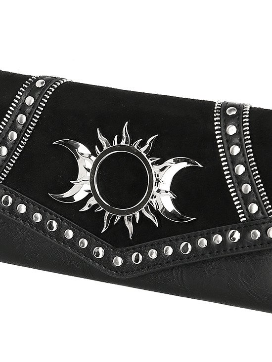 TRIPLE GODDESS WALLET Gothic moon and sun