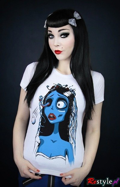 White T-shirt  Corpse Bride
