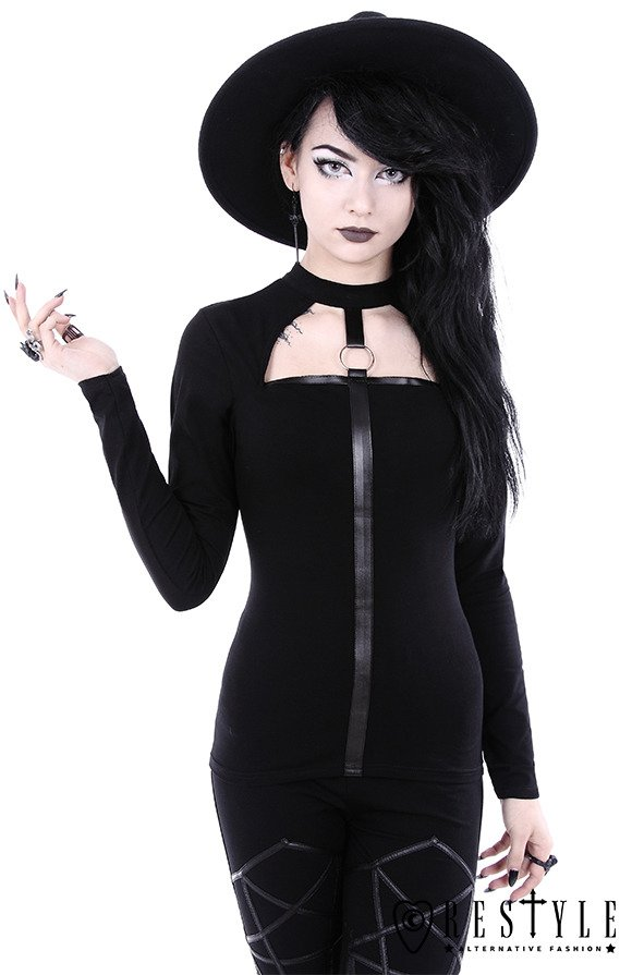 "Witchy shirt with O-ring ""Scarlett Blouse"""
