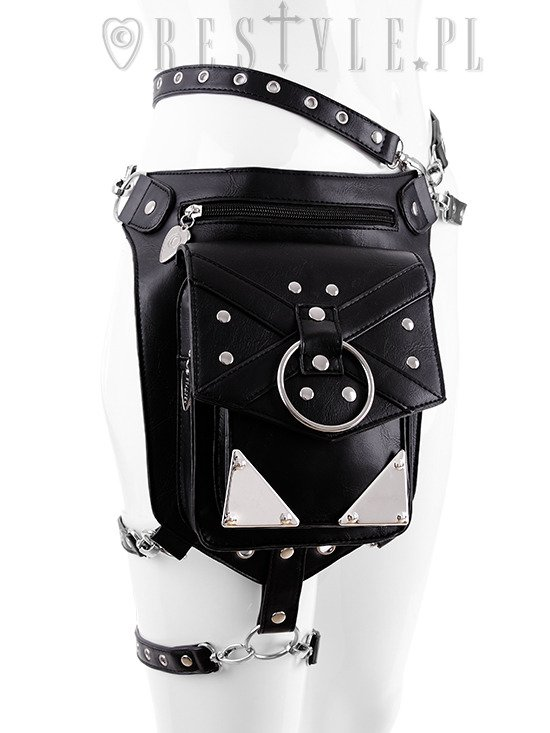 """X STRAPS HOLSTER BAG"" with pockets, hip bag, pocket belt, harness bag, gothic utility belt"