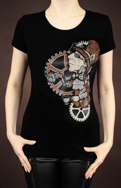 black tank top STEAMPUNK MAD HATTER singlet