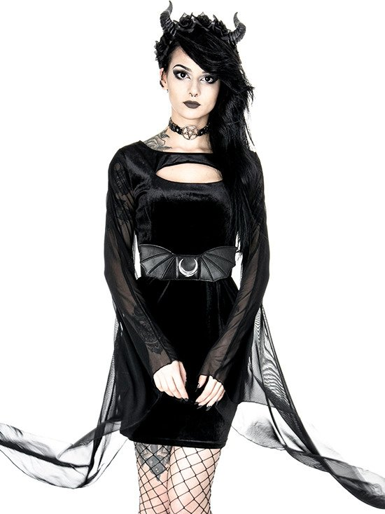 "gothic accessory ""MOON BAT WINGS BELT"""