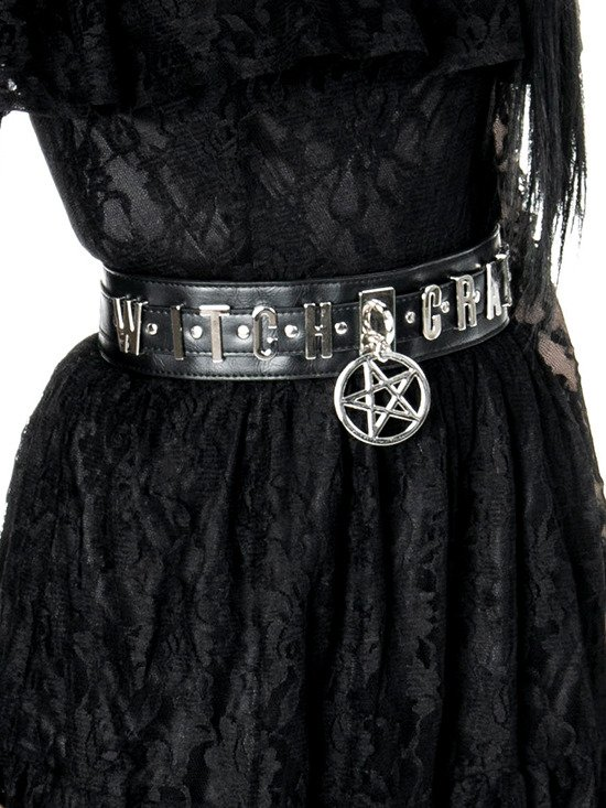 "gothic accessory ""WITCHCRAFT WAIST BELT"""