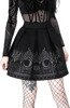 FORTUNE TELLER SKIRT, black gothic pleated short skirt with moon print
