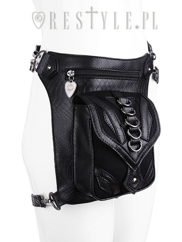 "Czarna torba na biodro, nerka, Pocket belt ""DRAGON HOLSTER BAG"""