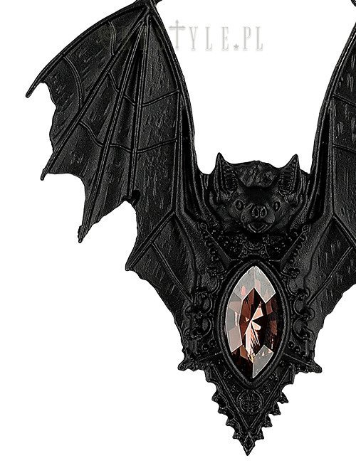"gotycki wisior nietoperz ""BAT NECKLACE BLACK"""
